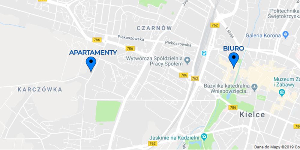 Lokalizacja apartamentów
